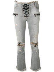 Unravel Project Ripped Jeans Grey