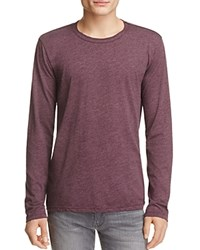 Velvet Heathered Long Sleeve Tee Chianti Red