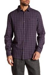 Original Penguin Long Sleeve Uneven Check Flannel Gray