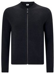 John Lewis Kin By Plated Cotton Bomber Jacket Black