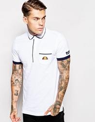 Ellesse Re Issue Polo Shirt White