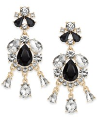 Charter Club Gold Tone Multi Stone Chandelier Earrings Only At Macy's