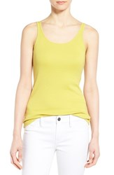 Women's Eileen Fisher Scoop Neck Long Slim Organic Cotton Tank Yarrow