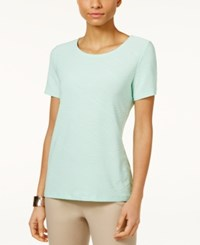 Jm Collection Jacquard T Shirt Only At Macy's Mint Julip