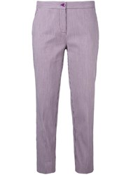 Etro Classic Cropped Trousers Pink Purple