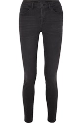 3X1 W3 Channel Mid Rise Skinny Jeans Gray