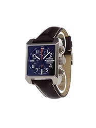 Fortis 'Square Chrono' Analog Watch Stainless Steel