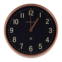 Newgate Master Edwards Wall Clock Radial Copper