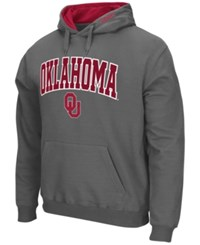 Colosseum Men's Oklahoma Sooners Arch Logo Hoodie Charcoal
