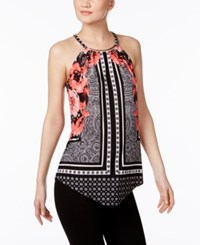 Inc International Concepts Printed Halter Top Only At Macy's Placed Floral Scarf
