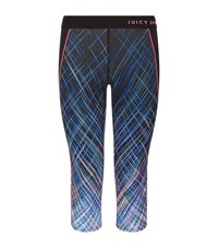 Juicy Couture Laser Skies Capri Leggings Female Blue