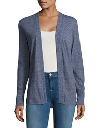 Michael Michael Kors Ribbed Open Front Cardigan True Navy