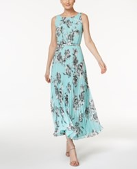 Jessica Howard Petite Floral Print Maxi Dress Mint Grey Multi