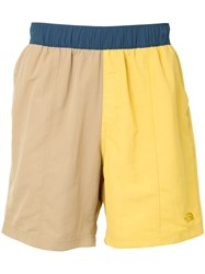 The North Face Colour Block Shorts Yellow