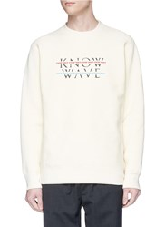 Know Wave 'Over Under' Logo Print Sweatshirt Neutral
