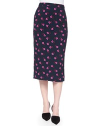 A.L.C. Bell Mallow Print Midi Pencil Skirt Women's