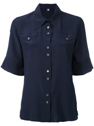 Paul Smith Ps By Shortsleeved Shirt Women Silk 46 Blue