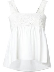 Apiece Apart 'Madrigada' Crochet Tank Top White