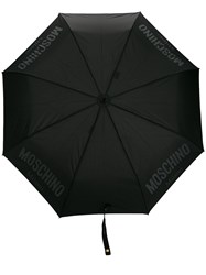Moschino Medium Logo Umbrella Black