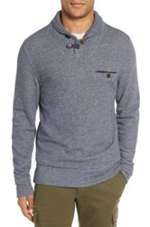 Billy Reid 'Shiloh' Shawl Collar Sweatshirt Blue