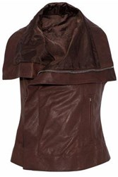 Rick Owens Leather Vest Chocolate
