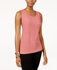 Jm Collection Jacquard Tank Top Only At Macy's Coral Shell