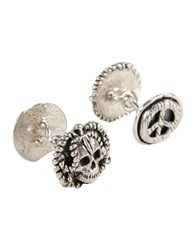 Manuel Bozzi Cufflinks And Tie Clips Silver