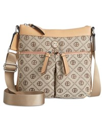 Giani Bernini Annabelle Chain Signature Crossbody Only At Macy's Khaki Brown