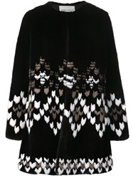 Prabal Gurung Geometric Pattern Coat