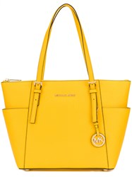 Michael Michael Kors Classic Tote Women Leather One Size Yellow Orange