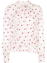 Brock Collection Heart Print Sheer Blouse 60