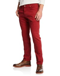 Ag Adriano Goldschmied Tellis Slim Leg Twill Pants Red