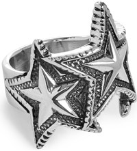Cody Sanderson Interlocking Star Sterling Silver Ring