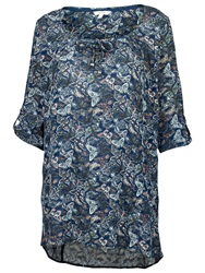Fat Face Kingston Three Quarter Butterfly Tunic Navy