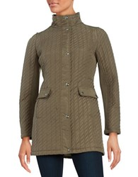 Weatherproof Plus Ribbon Quilted Jacket Safari Khaki