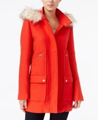 Maison Jules Faux Fur Trim Hooded Parka Only At Macy's Red