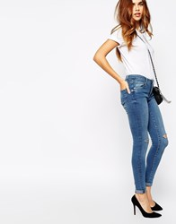 Warehouse Light Wash Skinny Jean Midwash