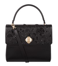 Elie Saab Embellished Top Handle Bag Female Black