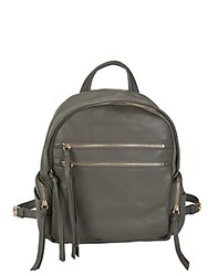 Kooba Tassel Leather Backpack Slate