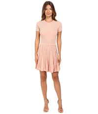 Red Valentino Stretch Viscose Dress With Scallop Detail Nude