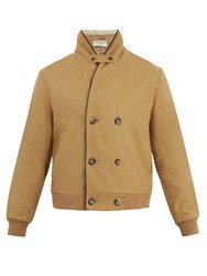 Editions M.R Double Breasted Faux Shearling Wool Blend Jacket Beige