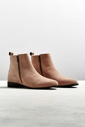 Urban Outfitters Uo Double Zip Suede Chelsea Boot Pink