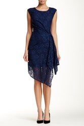 Eva Franco Lace Sleeveless Dress Blue