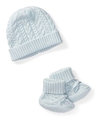 Ralph Lauren Cotton Accessory Set Blue Size Newborn 9 Months