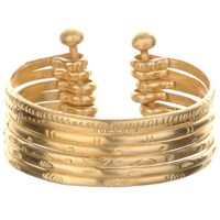 Satya Jewelry Stack Bangle Cuff Half Stack Gold