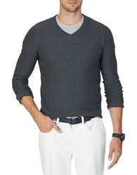 Nautica Classic V Neck Sweater Charcoal