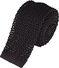 Ralph Lauren Black Label Knit Square Necktie Black