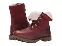 Timberland Authentics Teddy Fleece Fold Down Port Rugged Metallic Finish Women's Lace Up Boots