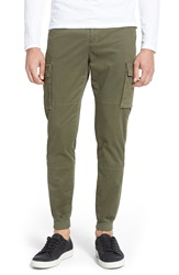 Vince Twill Cargo Jogger Pants Fatigue Green
