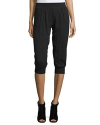 Atm Anthony Thomas Melillo Cotton Gauze Knit Capri Pants Black Women's